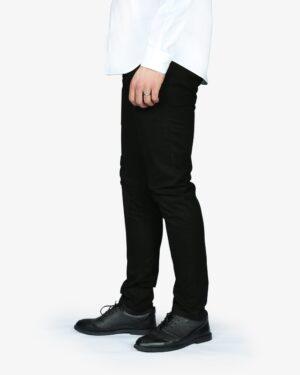 شلوار کتان مردانه - سیاه - بغل - پشت - خرید اینترنتی لباس - فروشگاه اینترنتی لباس سارابارا