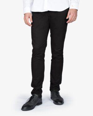 شلوار کتان مردانه - سیاه - رو به رو - خرید اینترنتی لباس - فروشگاه اینترنتی لباس سارابارا