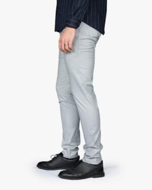شلوار کتان مردانه - طوسی کمرنگ - بغل - خرید اینترنتی لباس - فروشگاه اینترنتی لباس سارابارا