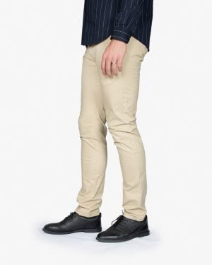 شلوار کتان مردانه - نخودی - بغل - خرید اینترنتی لباس - فروشگاه اینترنتی لباس سارابارا