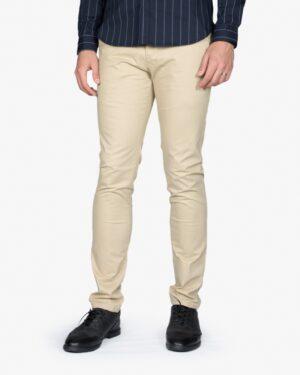 شلوار کتان مردانه - نخودی - رو به رو - خرید اینترنتی لباس - فروشگاه اینترنتی لباس سارابارا