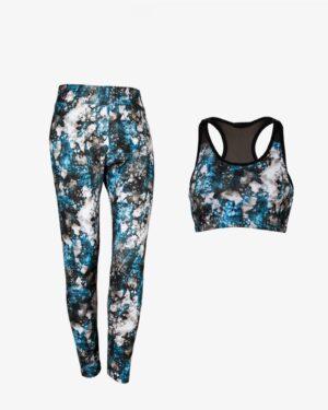 نیم تنه شلوار ورزشی - آبی روشن - رو به رو - خرید اینترنتی لباس - فروشگاه اینترنتی لباس سارابارا