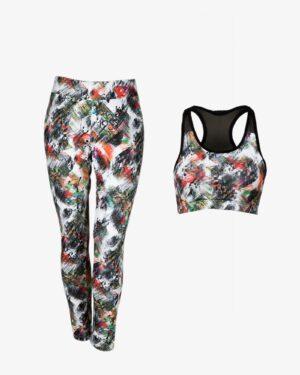 نیم تنه شلوار ورزشی - سفید - رو به رو - خرید اینترنتی لباس - فروشگاه اینترنتی لباس سارابارا