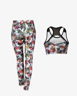 نیم تنه شلوار ورزشی - سفید - پشت - خرید اینترنتی لباس - فروشگاه اینترنتی لباس سارابارا