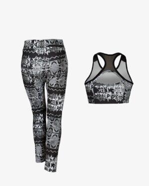 نیم تنه شلوار ورزشی - مشکی - پشت - خرید اینترنتی لباس - فروشگاه اینترنتی لباس سارابارا