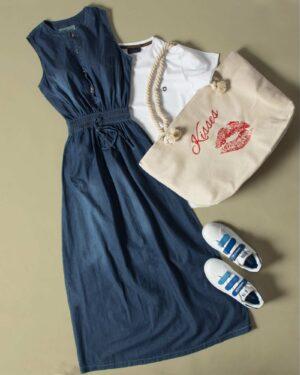 کیف خرید زنانه طرح لب - شیری - ست