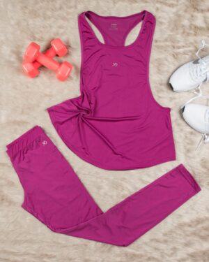 تاپ شلوار ورزشی زنانه - بنفش - محیطی