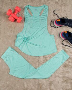 تاپ شلوار ورزشی زنانه - سبز زمردی - محیطی