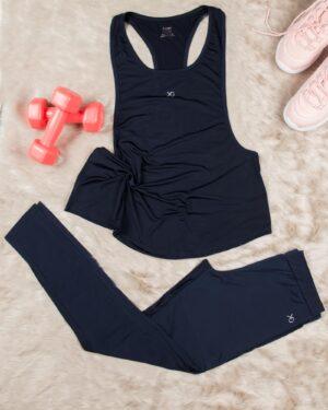 تاپ شلوار ورزشی زنانه - سرمه ای تی�