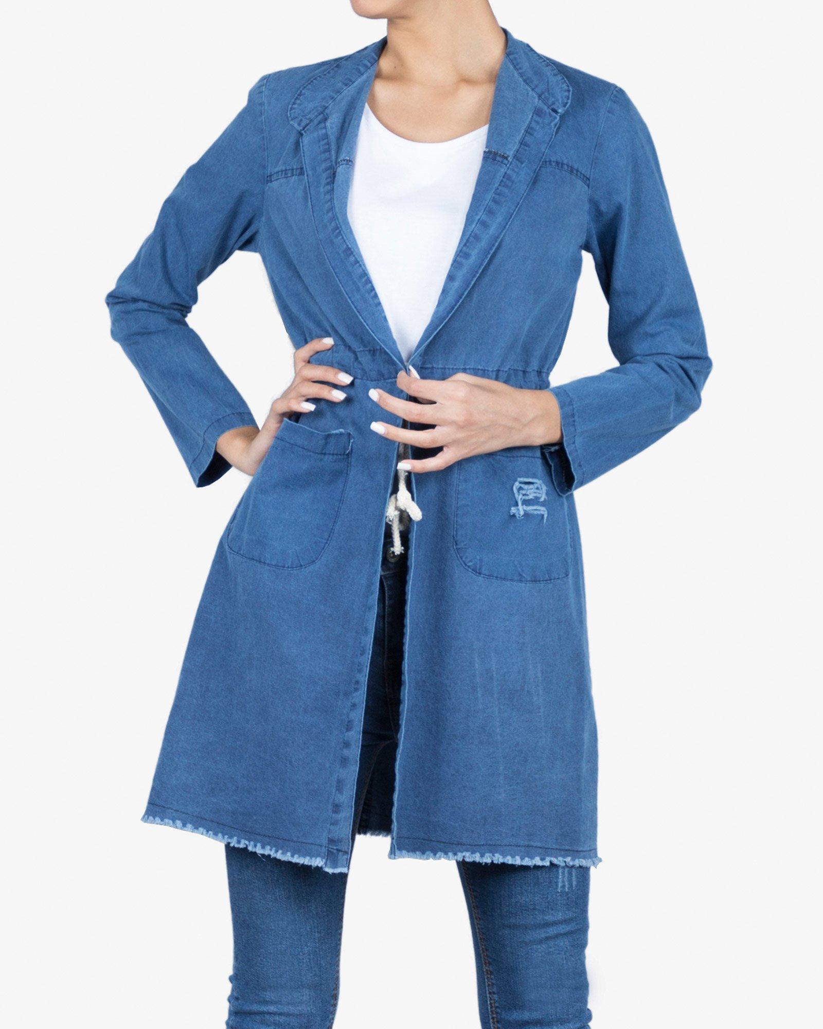 مانتو لگ مانتو جین دخترانه ساده   فروشگاه اینترنتی لباس سارابارا