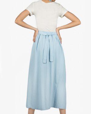 پیراهن بلند پشت باز زنانه - نیلی پاستیلی - پشت
