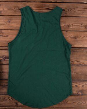 تاپ اسپرت آستین حلقه ای مردانه - سبز تیره - پشت