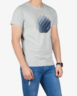 تی شرت آستین کوتاه مردانه کانی راش - ملانژ - رو به رو