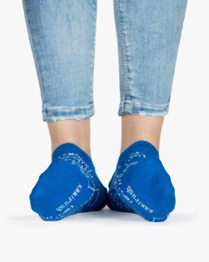 جوراب زنانه ساق کوتاه طرح ریاضی - آبی - برند جوراب - رو به رو