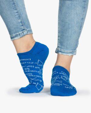 جوراب زنانه ساق کوتاه طرح ریاضی - آبی - ساق کوتاه - بغل پا