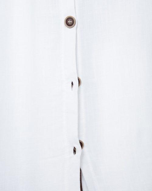 سارافون مجلسی ساده زنانه - سفید - دکمه