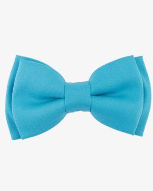 پاپیون ساتن ساده آبی مردانه - آبی روشن