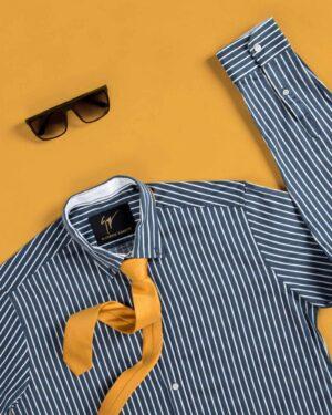 کراوات ساده زرد مردانه - خردلی - محیطی