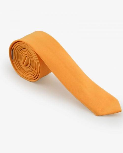 کراوات ساده زرد مردانه - خردلی