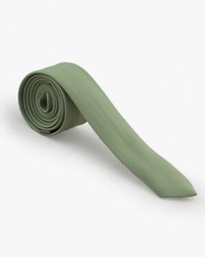 کراوات سبز ساتن مردانه - سبز پسته ای