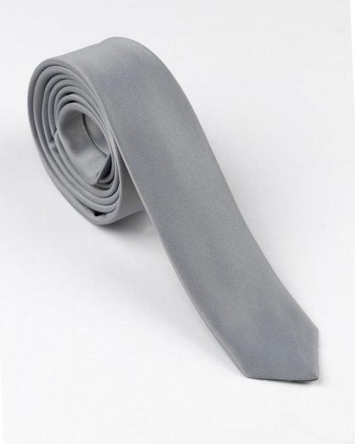 کراوات طوسی ساتن مردانه
