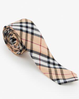 کراوات کرم طرح دار مردانه - کرمی
