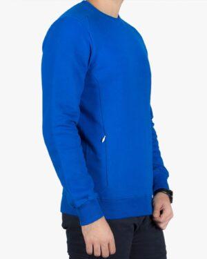 بلوز مردانه آبی اسپرت ساده - آبی - بغل