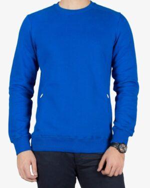 بلوز مردانه آبی اسپرت ساده - آبی - رو به رو