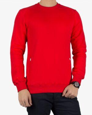 بلوز مردانه قرمز آستین بلند - قرمز - رو به رو