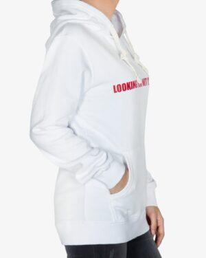 سویشرت اسپرت کلاه دار زنانه سفید - سفید - بغل