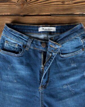شلوار جین آبی تیره زنانه - آبی تیره - زیپ دکمه