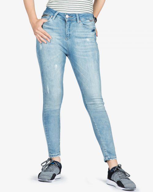 شلوار جین آبی روشن زنانه - آبی روشن - رو به رو