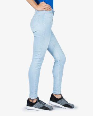 شلوار جین آبی روشن کشی زنانه - آبی روشن - بغل
