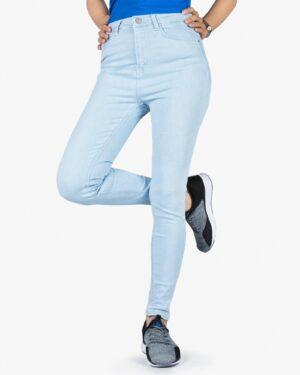 شلوار جین آبی روشن کشی زنانه - آبی روشن - رو به رو
