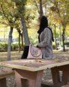 مانتو بافت پاییزه زنانه کوتاه جلو باز - هلویی سیر - دخترانه