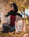 مانتو بافت پاییزه زنانه کوتاه جلو باز - هلویی سیر - محیطی