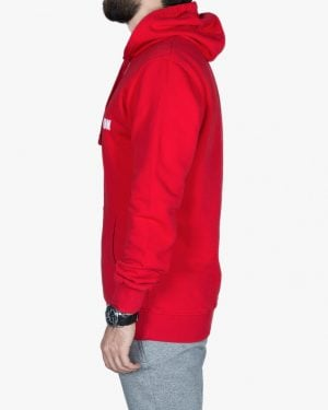 هودی جلو بسته قرمز مردانه - قرمز - بغل