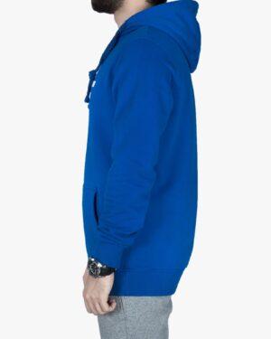 هودی مردانه اسپرت جلو بسته - آبی - بغل