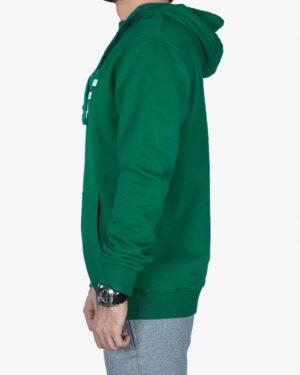 هودی مردانه اسپرت جلو بسته - سبز - بغل