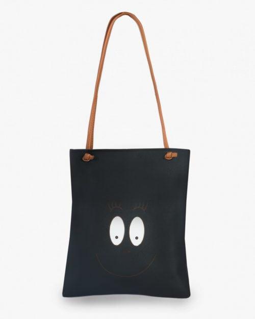 کیف زنانه دوشی مشکی فوم - مشکی - طرح دار