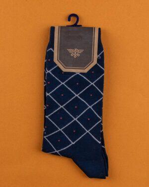 جوراب مردانه 4T6- سرمه ای سفید (2)