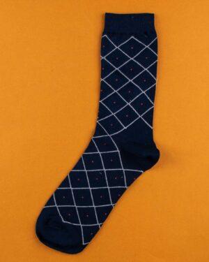 جوراب مردانه 4T6- سرمه ای سفید (3)