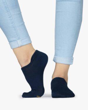 جوراب مچی ساده سرمه ای - سرمه ای - بغل