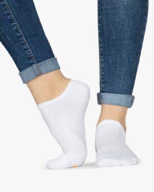 جوراب مچی سفید ساده - سفید - بغل