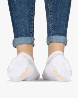 جوراب مچی سفید ساده - سفید - رو به رو