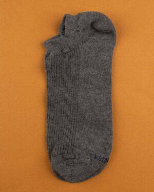 جوراب مچی نخی 2-t9- خاکستری تیره (2)