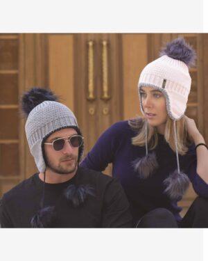 کلاه بافت گوش دار منگوله دار - محیطی