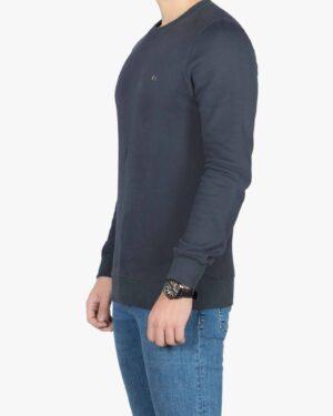 بلوز مردانه پنبه ای یقه گرد - خاکستری تیره - بغل