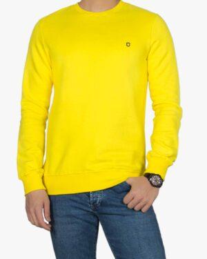 بلوز پنبه ای آستین بلند زرد مردانه - زرد - رو به رو