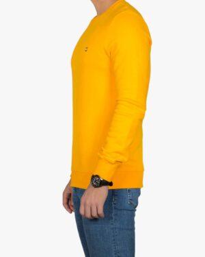 بلوز پنبه ای آستین بلند زرد مردانه - عسلی - بغل